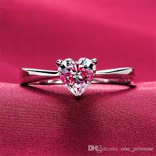 girl heart rings images 2018 1ct heart shape synthetic diamond simple ring engagement jpg