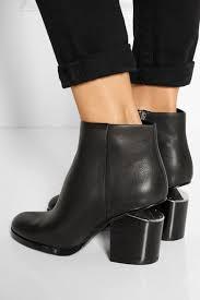 alexander wang gabi cutout leather ankle boots net a porter