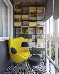 Yellow Chair Modern Yellow Chair On Terrace Interior Design Ideas