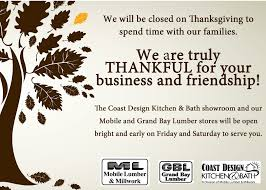 which stores open thanksgiving thanksgiving hours 2013 mobile lumber u0026 building materials inc