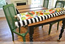 Black Farmhouse Table Change Of Plans U2013 Black Table Green Chairs