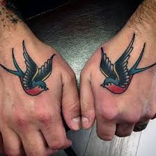70 traditional swallow tattoo designs for men old birds