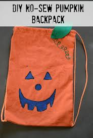 diy no sew pumpkin backpack bless this mess