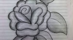sketches of flowers with pencil drawing flowers how to draw a rose