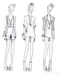 fashion sketches template back photo shared by janet24 fans