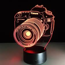 light gloves shark tank yeduo novelty 3d acrylic entertainment camera illusion led lamp