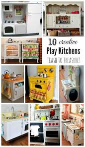 play kitchen ideas wonderful diy play kitchen from tv cabinets plays kitchens and