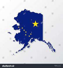 Alaska Map Images by Alaska Mapborder Flag Style Shadow Stock Vector 343704437