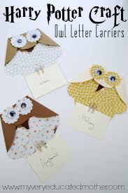 my very educated mother harry potter craft paper owl letter carriers