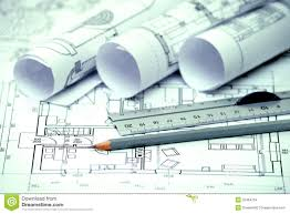 best architectural design blueprint with heap of architectural