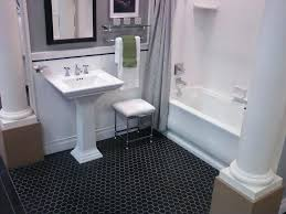 bathrooms design bathroom floor tile hexagon black white