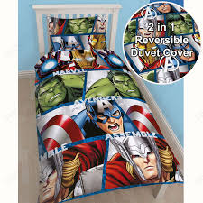 Single Duvet Covers And Matching Curtains Avengers Shield Twin Rotary Duvet Cover Set U0026 Matching Curtains Ebay