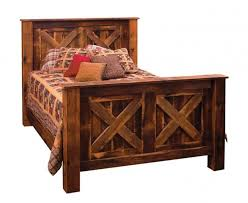 rustic bed frame country bed frame reclaimed wood bed frame