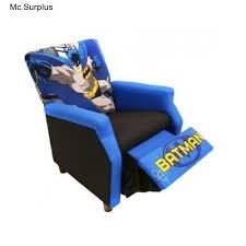 batman recliner chair soft black kids room play superohero toys