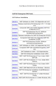 sap basis certification and interview questions answers and11237206714