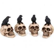 wholesale box of 4 skull with ornaments something