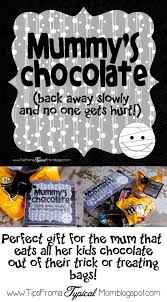 mummy u0027s chocolate gift tag for mom on halloween tips from a