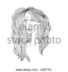 woman black and white line drawing pregnant with baby stock photo