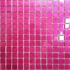glitter pink mosaic glass bathroom wall tiles shower bath basin