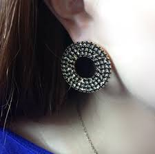 big stud earrings new simple big stud earrings for women gold filled big