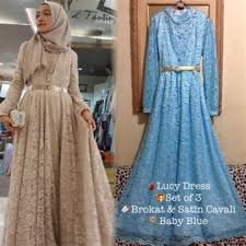 wedding dress brokat beautiful new model muslim wedding dress 13 embroidered