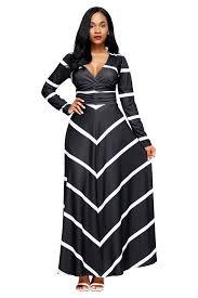chevron maxi dress black striped chevron v neck sleeve maxi dress mb61717 2