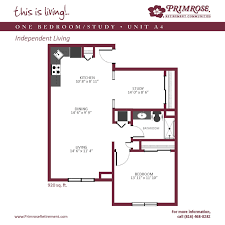 One Bedroom Apartments Kansas City Apartment Sizes And Floor Plans For Kansas City Mo Primrose