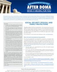social security help desk after doma social security and family protections lambda legal