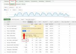 adwords bid getting started with adwords location bid adjustments