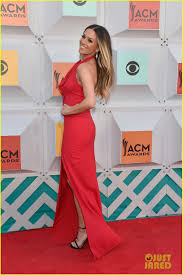 jana kramer walks carpet with husband michael caussin shows off