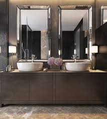 three luxurious apartments with dark modern interiors vessel three luxurious apartments with dark modern interiors bathroom mirror designbathroom sink