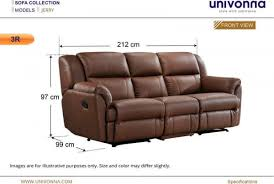 three seater recliner sofa 3 seater recliner sofa dimensions www gradschoolfairs com