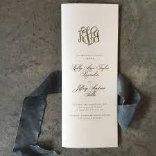tea length wedding programs classic mongram tea length folded wedding ceremony program