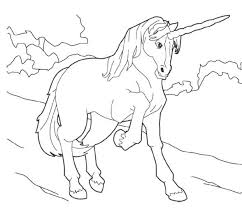 hard unicorn coloring pages