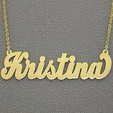 Gold Personalized Name Necklaces Large Gold Personalized Carrie Name Necklace Free Shipping