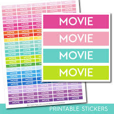 printable tv stickers movie planner stickers film stickers sti 235 js digital paper
