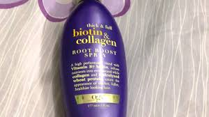 ogx thick and full biotin and collagen root boost hair spray