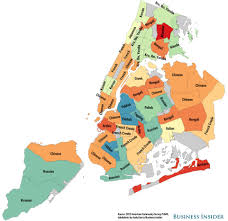 New York City Zip Code Map by Nyc Non English Language Maps Business Insider