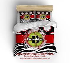 Etsy Bedding Duvet Softball Bedroom Red And Black Softball Bedding Comforter