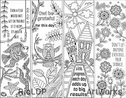 8 coloring bookmark doodles with quotes bookmarks doodles and