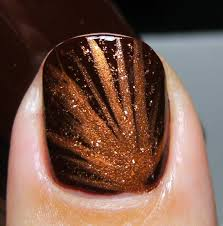 thanksgiving nail polish colors deez nailz sinful colors u0027maghony u0027 with striprite copper nail