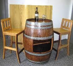 Oak Bar Table Oak Wood Wine Barrel Bar Table Base With Shelf Opening