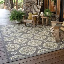 Outdoor Area Rugs For Decks Stylehaven Floral Grey Gold Indoor Outdoor Area Rug Free