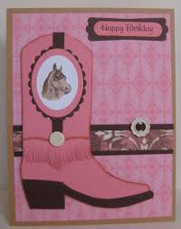 stampin up horse card ideas this cowgirl birthday card was made
