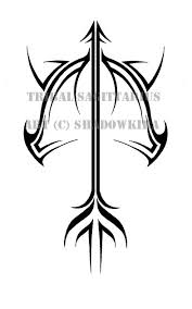 tribal arrow with leaves tattoo design photo 2 2017 real photo