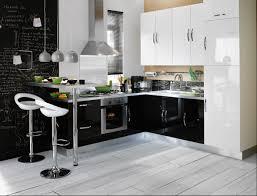 cuisine blanche et noir cuisine gris et blanc deco meilleur idées de conception de maison