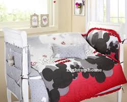 Swinging Crib Bedding Sets Red And White Mickey Mouse Crib Bedding Cotton Bedding