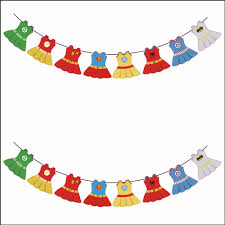 baby shower decoration party banner superhero avenger theme paper