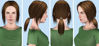 the sims 4 cc hair ponytail mod the sims moonlight female hair teen to elder
