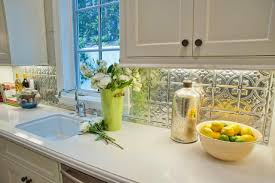 non tile kitchen backsplash ideas 9 kitchens with show stopping backsplash hgtv u0027s decorating